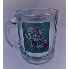 Piratemania 12 Glass Trackable Grog Mug (Custom option)