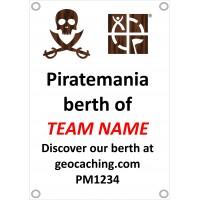 Piratemania Team personalised ships berth banner