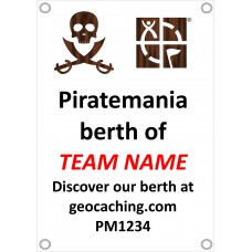 Piratemania Team personalised ships berth banner