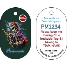 Piratemania 12 Custom Aluminium Trackable Tag